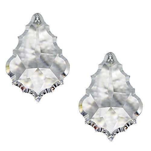 Kristallen pendel barok 63 mm in set 2 stuks regenboogkristal om op te hangen Feng Shui Esoterik vensterversiering 30% loodkristal kristallen sieraden kroonluchter gordijn kristal lamp kristalglas