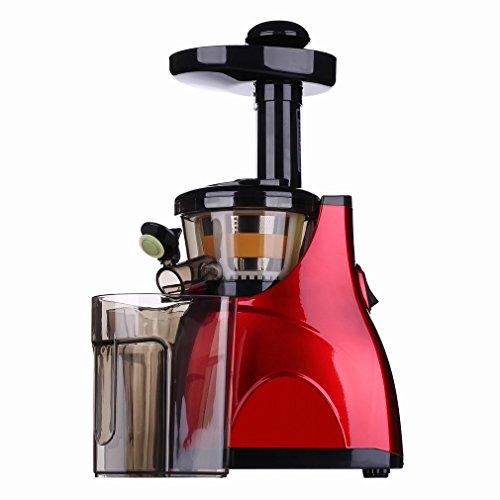Juicer Automatico Multifunzionale Spremiagrumi Lenta - Grinding Machine a Bassa Velocità Spremiagrumi Succo Di Frutta,Rosso,28 * 18 * 45cm