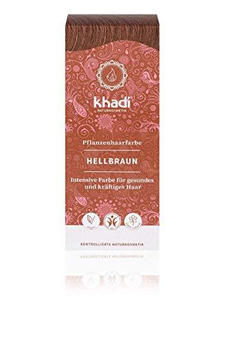 Khadi Naturprodukte Coloration pour cheveux naturels Marron clair 100 g