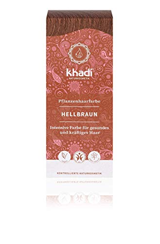 Khadi Natural Products Plant Hair Colour Light Brown 100 g Light Brown