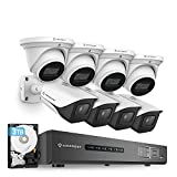 Amcrest 4K Security Camera System 16CH 8MP Video DVR with 8X 4K 8MP Indoor Outdoor Weatherproof IP67 Bullet & Dome Cameras, 2.8mm Lens, Pre-Installed 3TB HDD, for Home Business (AMDV8M16-4B4D-W-3TB)