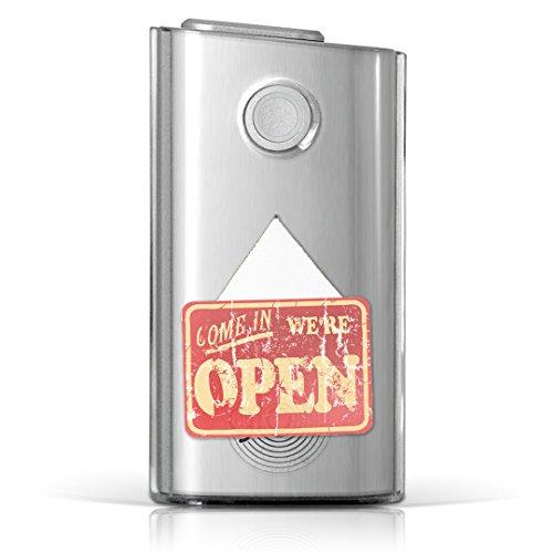 glo グロー グロウ 専用 クリアケース クリアカバー タバコ ケース カバー 透明 ハードケース カバー 収納 デザイン ポリカーボネート 英語 ヴィンテージ 赤 009181
