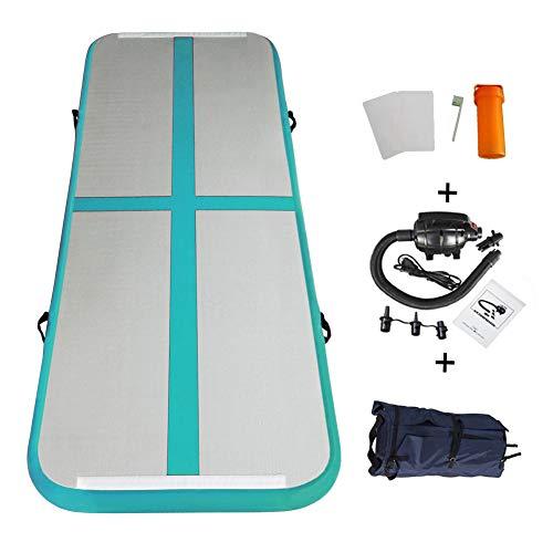 Home U Airtrack für Gym Training Air Floor Yoga Trainingsmatten Aufblasbare Sport Matratzen (3x1x0.1m, Grün-3)