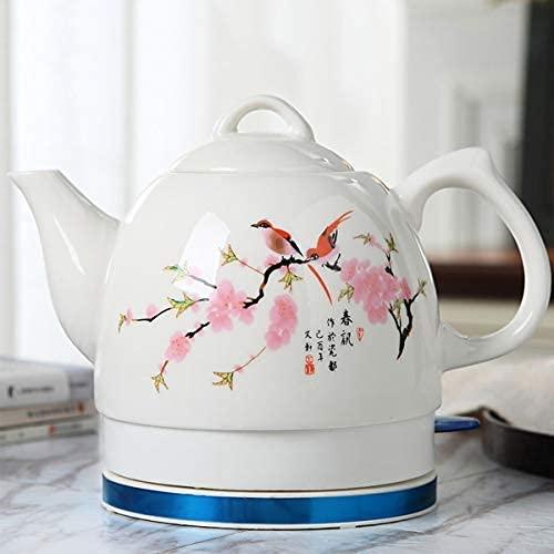 AWJ Hervidores de Agua para el hogar de 1 l, hervidores de cerámica para el hogar, hervidor de té, Tetera, Tetera, Tetera Retro, Agua rápida para té, café, Sopa, Base extraíble de Avena, protecc