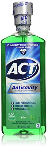 Act Anticavity Fluoride Mouthwash Mint 18 fl oz (Pack of 3)