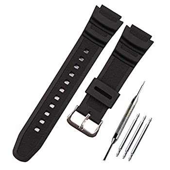MCXGL Natural Resin Replacement Watch Band for Casio AE-1200 SGW-300H MRW-200H W-735H Waterproof Rubber strap