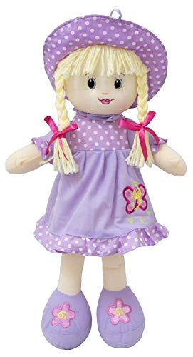 Boneca de Pano Macia Bebê Menina 30 cm BBR Toys (LAÇO ROSA)