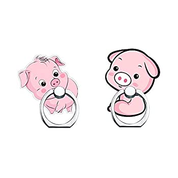 Phone Ring Holder Stand,Pig Phone Ring Stand Holder 360 Rotation Finger Ring Grip Stand for Cellphones,Smartphones and Tablets