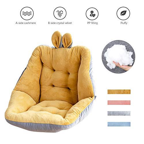 None Brand Cojines de asiento para sillas de oficina, cómodas almohadas sentadas para leer en la cama, cojines de silla para oficina/dormitorio/biblioteca