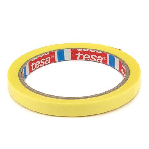 DonDo tesa 4334 Präzisionskrepp Plus Profi Maler Abdeckband gelb Konturenband 10mm x 25 Meter