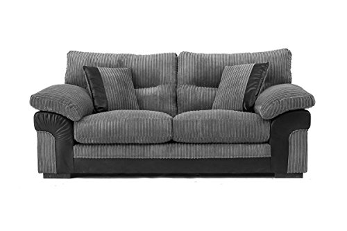 Abakus Direct SAMSON 3 SEATER in GREY