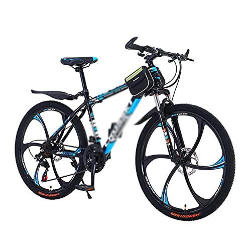 FBDGNG Bicicleta de montaña de freno de disco de 26 pulgadas para hombres o mujeres MTB marco de acero al carbono con horquilla de suspensión (tamaño: 24 velocidades, color: blanco)