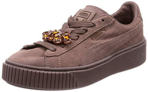 PUMA Damen Suede Platform GEM WN's Sneaker, Braun (Peppercorn-Peppercorn 02), 39 EU