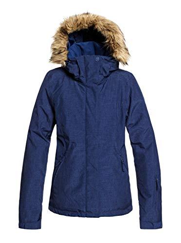 Roxy Jet Solid-Veste de Ski/Snowboard pour Femme, Medieval Blue, FR (Taille Fabricant : XL)