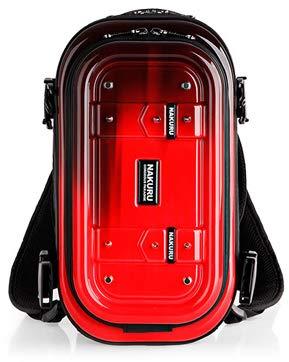 リュックサック ハードシェル メンズ レディース 軽量 ABS+PC ハードケース 防水 3way AE-6007 Mサイズ NAKURU-AE-6007-M-Red
