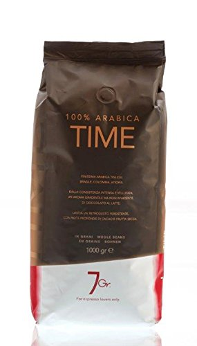 7 Gr. Kaffee Espresso - TIME 100% ARABICA - 1000g Bohnen