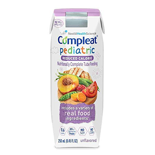 Compleat Pediatric Reduced Calorie Nutritionally Complete Tube Feeding, Unflavored, 8.45 FL OZ