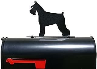 Schnauzer Dog Silhouette Mailbox Topper/Sign