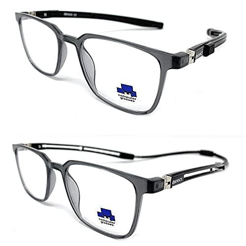 VENICE EYEWEAR OCCHIALI   New Model 2021 TR90 EXTENSIBLE Gafas de lectura con filtro bloqueo luz azul para gaming, ordenador, móvil. Anti fatiga IMAN EXTENSIBLE unisex Venice (Negro, 2.00)