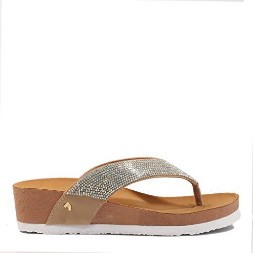 Gioseppo Deerfield Oro 59350 Sandalias para Mujer (Numeric_36)