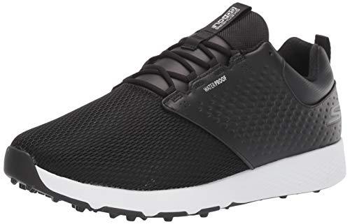Skechers Men's Elite 4 Prestige Relaxed Fit Waterproof Golf Shoe, Black/White, 12.5 M US