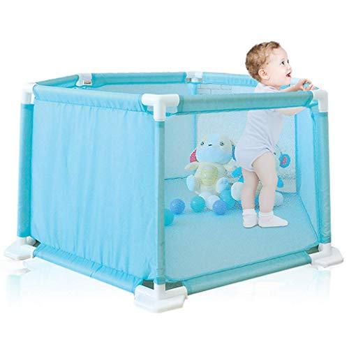 LHSUNTA Laufgitter Baby Zaun Kinder Zaun 6-Panel mit stabilen Basen, Baby Sechseckig Laufgitter Playard Spielzeug für Kleinkinder im Aktivitätsbereich, Indoor und Outdoor Spielen (10 Bälle inklusive)