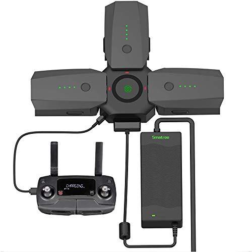Smatree Hub de Cargador de Batería de 3 Puertos para dji Mavic Pro/Platinum Drone con Batería de Alimentación de 90 W Adaptador de Placa de Carga Paralela (Baterías NO Incluidas)