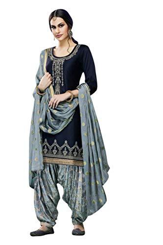 We Designer Salwar Kameez Punjabi Patiala Salwar Kameez Suit for Womens Stitched Dress (Choice 1, XXL-46)