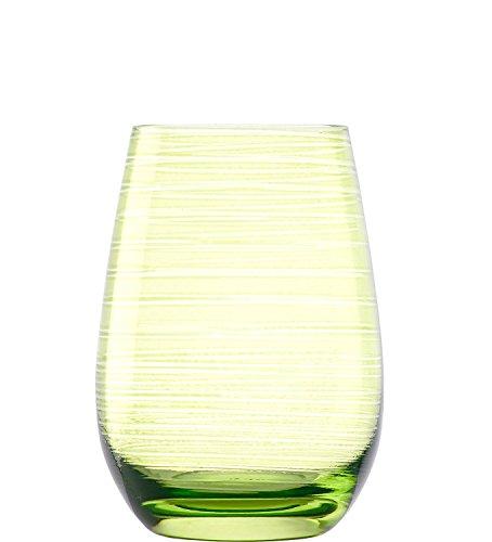 Stölzle Lausitz Gläser Twister 465 ml Grün I Trinkgläser 6er Set I Gläser-Set spülmaschinenfest I hohe Bruchresistenz I Universalgläser als Wassergläser & Saftgläser & Longdrinkgläser