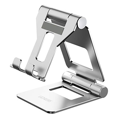 Licheers verstellbare Tablet Ständer, Tisch Tablet Stand: universal Tablet Halterung kompatibel mit 2018 Pad Pro 10.5/9.7, Pad Air 2 3 4, Pad Mini 2 3 4 und Geräte von 4-13 Zoll (Silber)