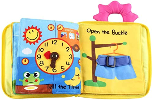 PATPAT® Soft Baby Cloth Book, Comfortable Infant Kids Early Development Cloth Book, Learning Educational Cloth Book Baby Toys,Multicolor