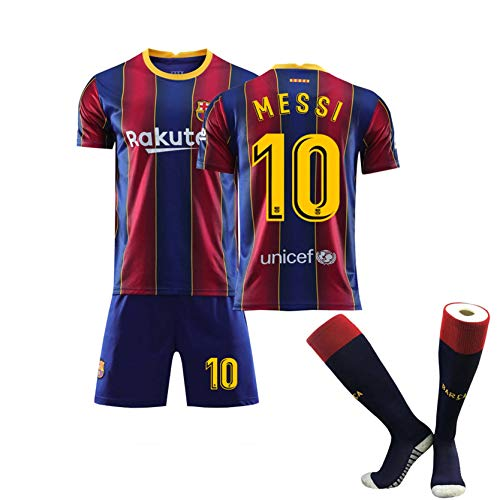 YGLCH Barcelona Jersey Men 2020-2021 Home and Away Jersey, Football Uniform Suit Men,I,L