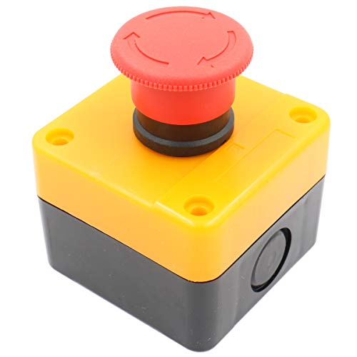 Heschen Red Sign Not-Stopp-Schalter, Druckknopf, 660 V, 10 A, mit Box