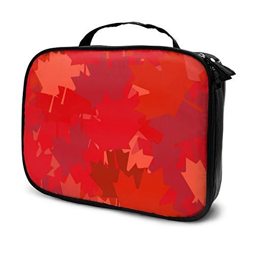 Sacs à cosmétiques pour les femmes voyagent, Étui à crayons pour le vecteur fond rouge dos Canada