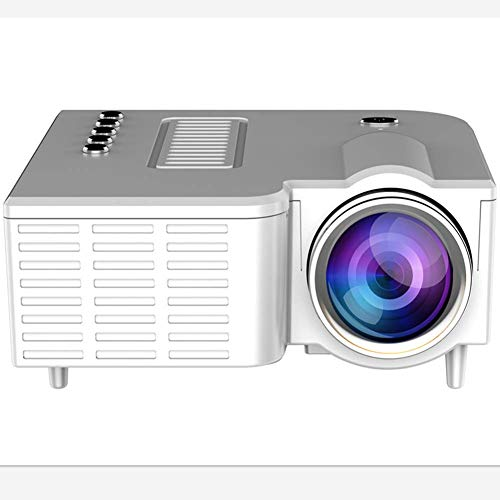 Proyector, Portable Mini Cine en Casa Película Proyector con 20,000 Horas Lámpara LED Vida, Full HD 1080P Admite, Compatible con TV PS4, HDMI, VGA, TF, AV Y USB - Blanco, Free Size