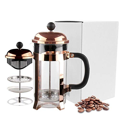Check Out This VERTRAUEN Elegant Rose Gold French Press Coffee Maker High Quality Stainless Steel, H...