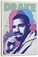 ラッパーオーブリーポスター装飾絵画キャンバスウォールアートリビングルームポスター寝室絵画-40x60CMフレームレス