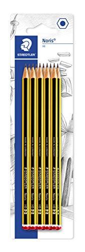 Staedtler Noris 1120-2 BK10. Lápices de madera certificada. Paquete con 10 lapiceros HB, goma y sacapuntas.