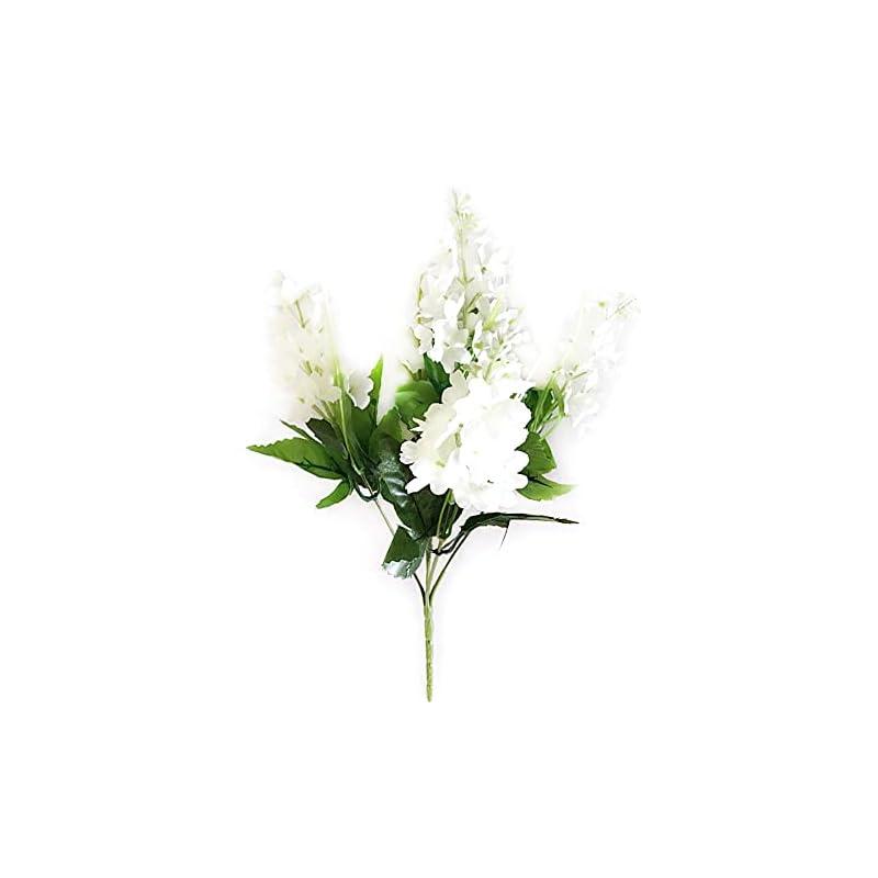 silk flower arrangements hyacinth flowers artificial 5 heads fake flower bouquet fresh style indoor outdoor wedding decor