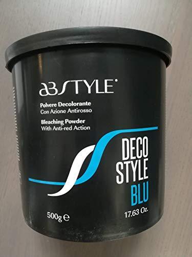 AB Style | Decostyle Blue–Polvo decolorante rápido con acción antirosso apto a schiariture Intense y Progressive (500g)