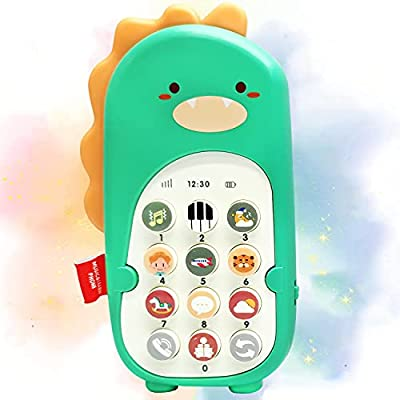 RUAN Baby Cell Phone Toys with Music ,Kids Teething Play Phone Musical Educational Toys Dancing Dinosaurs Toys Pet for 6 8 10 12 18 Months Baby Toddlers and Aged 1+ Kids from AOLESEN TOYS CO.,LTD.