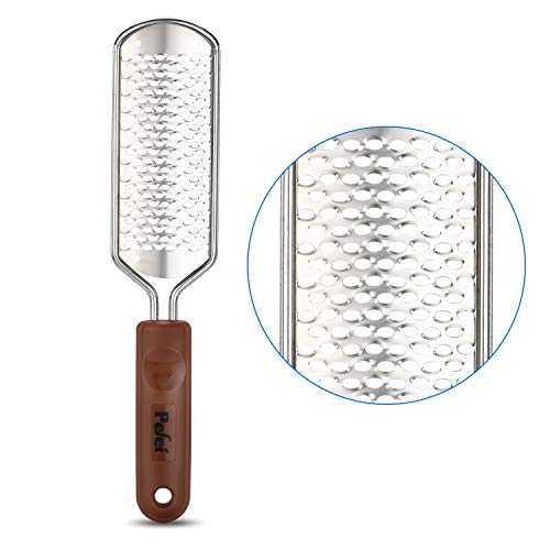 Professional Pedicure Foot File, Colossal Stainless Steel Detachable Foot Scrubber, Hard Skin Removers Pedicure Rasp for Wet and Dry Feet