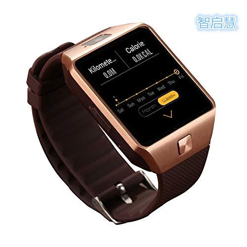 DFEDCLL Fitness-Tracker, QW09 Smartwatch, WiFi-Version dz09 3G Internet WiFiAPP, Android-System 4.4 herunterladen,3