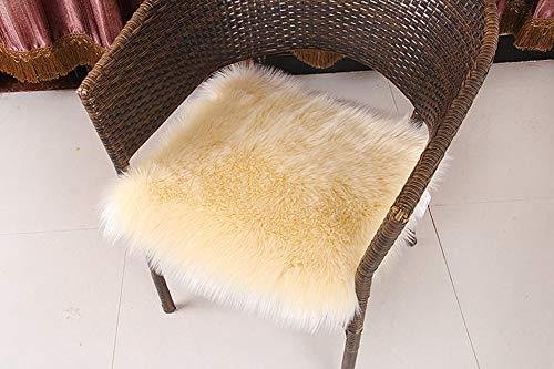 TPJJ Cojín De Piso Transpirable De Felpa,Soft Square Chair Pad,Cubierta del Asiento De La Silla Garden Relaxer G 40x40cm (16x16inch)