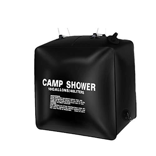40L Wasserbeutel Faltbare Solarenergie Beheizte Lager PVC Duschbeutel Außendusche Camping Wandern Wassertasche BBQ Picknick Wasser Lagerung