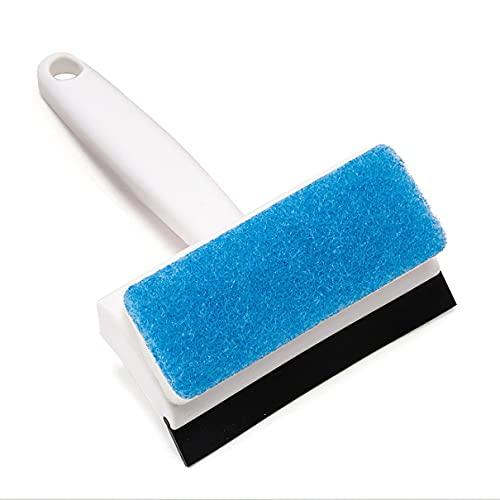 Wolfberrymetal Cepillo de Limpieza de Azulejos de Piso Limpiador de Espejo de baño Limpiador de raspador de Vidrio Herramientas de Limpieza Limpiador de Azulejos de Pared y Piso