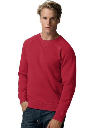 Hanes Men's Nano Crewneck Sweatshirt, Vintage Red, Medium