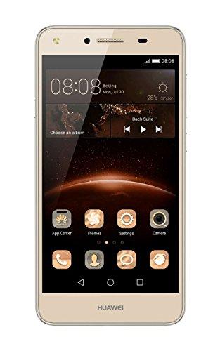 Huawei 51090LAQ Y5 II Smartphone, Dual SIM, 12,7 cm (5 Zoll), 8MP Hauptkamera Gold