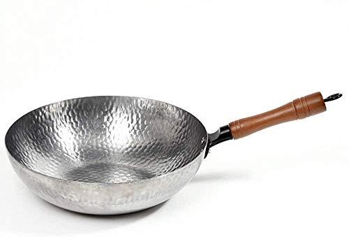 min min Wok Alte Eisen Pan Wok Ungezündet Nicht-Stick Pan Universal Pan Runder Boden Schmiedeeisen Haushalt Kochpfanne Pfanne Pfannen Pfannen (Farbe: Gusseisen, Größe: 34cm)