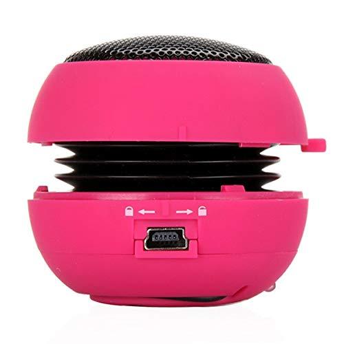 Zuilluidspreker Wired Sound Box luidspreker Stereo Bass HiFi-Audio Muziek, roze